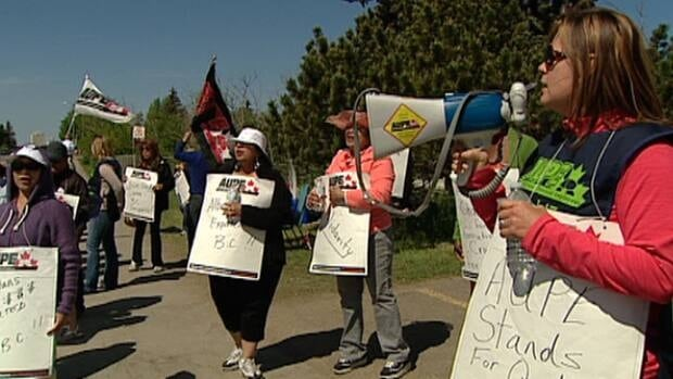 Staff at a northeast Edmonton seniors home are entering the second week of a strike over wages.
