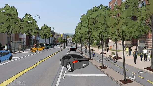 An artist's rendition as to what Main Street West could look like.