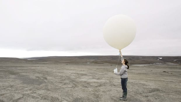 Balloons with instruments attached are used to monitor chemicals such as ozone in the atmosphere. Scientists have raised concern over cuts to Canada's ozone monitoring systems.
