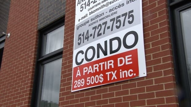 Too many condos and not enough sales have created a housing market slump in Montreal, says one Remax real-estate agent.