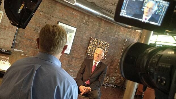 Mayor Bob Bratina sits down for a one-on-one interview with CBC executive producer Roger Gillespie on Friday.