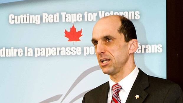 Veterans Affairs Minister Steven Blaney, shown at an announcement in February, announced new funding on Monday for programs to help identify and reach out to homeless veterans.