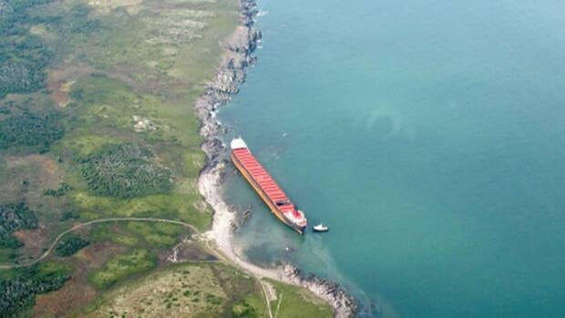The MV Miner has been stuck in the same location for 18 months.