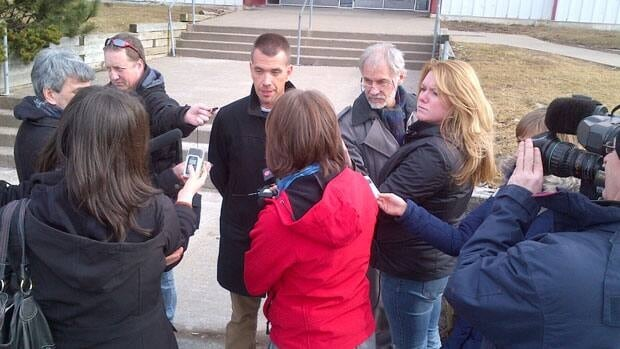 Ken Wilson, president of Amalgamated Transit Union local 508 talks to reporters Friday after announcing his members rejected HRM's offer with 78 per cent of the vote.