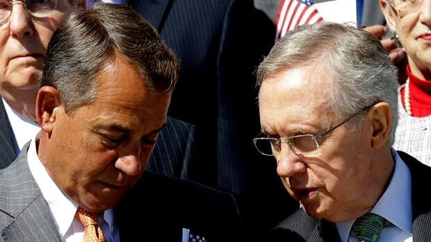 U.S. House Speaker John Boehner, a Republican, and Senate Majority Leader Harry Reid, a Democrat, both pledged after the U.S. election to work with the other side. But co-operation has been in short supply in the bitterly divided U.S. Congress.