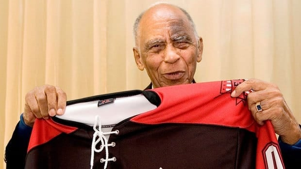 Order of Canada recipient Herb Carnegie, who was a star player with the Quebec Aces through the 1940s but was never given a shot at the NHL because he was black, died in Toronto on Friday at age 92.