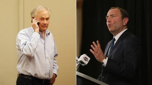 NHLPA executive director Donald Fehr, left, and NHL commissioner Gary Bettman have been at odds in the ongoing NHL labour dispute.