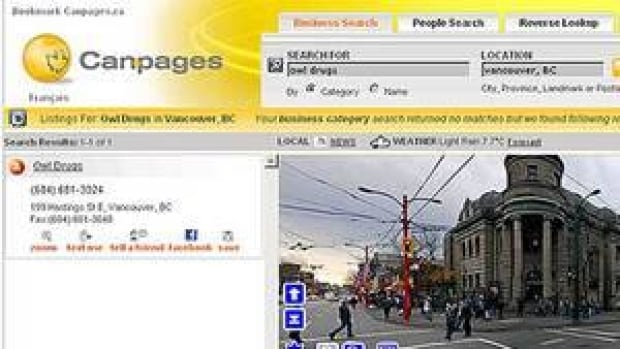 Burnaby-based Canpages Inc., published local directories both in print and online.