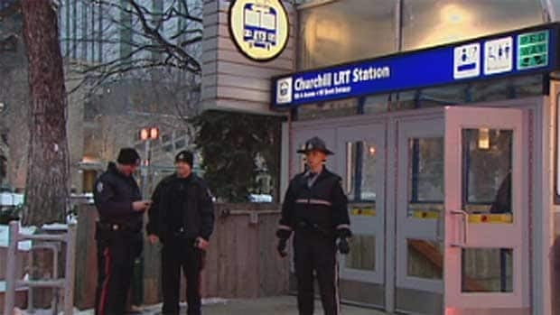 A fire in at Churchill LRT Station on Monday afternoon created delays for commuters.
