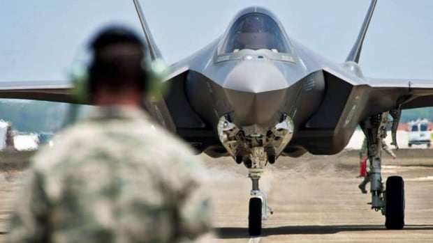 A leaked U.S. Department of Defence slide presentation suggests Canada will begin ordering F-35 fighters this month, though the government says no decision has been made.