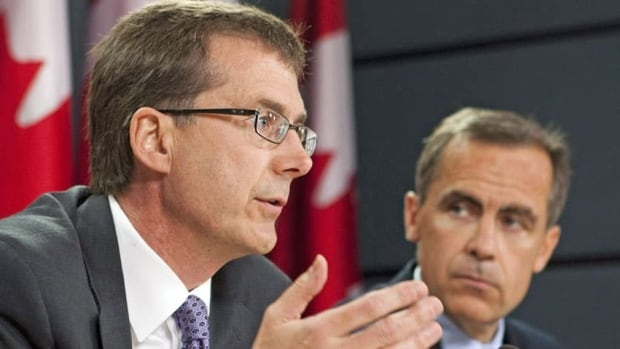Tiff Macklem, left, was believed to be the frontrunner to replace Mark Carney, right, at the helm of the Bank of Canada.
