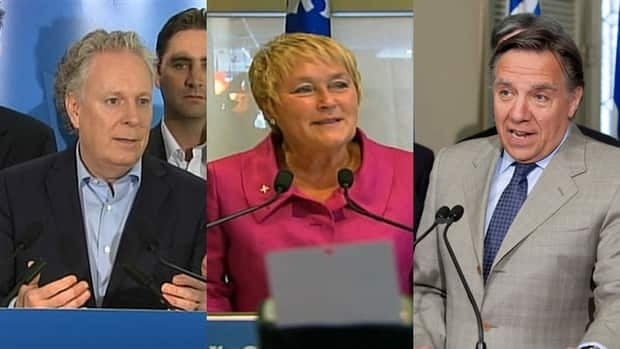 From left, Liberal Premier Jean Charest, Parti Quebecois leader Pauline Marois and Coalition Avenir leader Francois Legault are the leading contenders in the upcoming Quebec election.