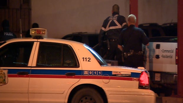 Police at a Wednesday night standoff at 3rd Avenue North