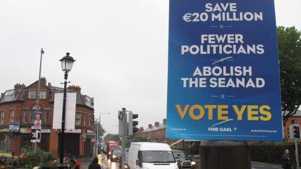 Abolish Ireland Senate poster