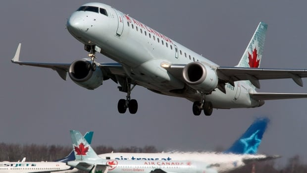 An Air Canada shares soared Friday on news that the airline expects its costs per available seat mile to be between three and 3.5 per cent lower than a year ago.