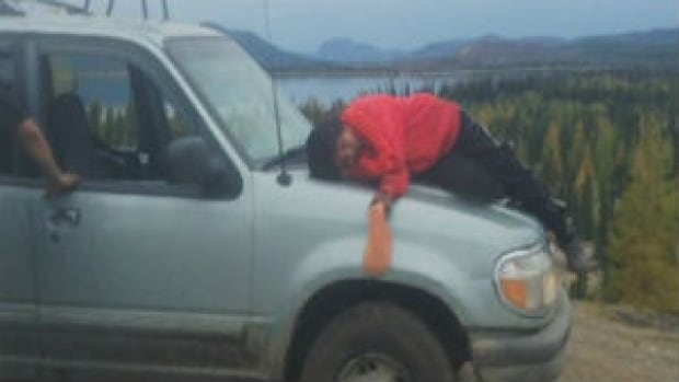 Innu Chief Simeon Tshakapesh said earlier this week that he was shaken by this photo of his nephew, taken in Natuashish, with a bag of gas in his hand.