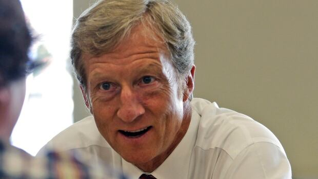 U.S. businessman Tom Steyer has written to Prime Minister Stephen Harper to suggest Canada has a role in the government shutdown.