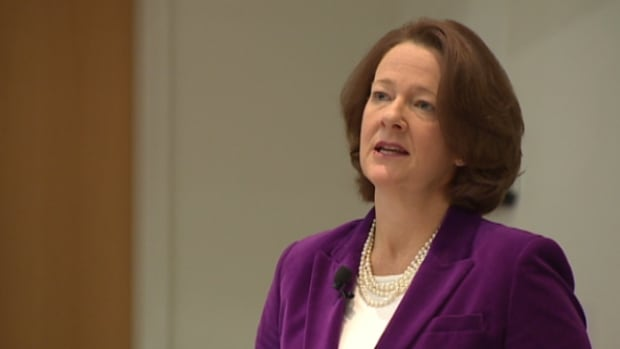 Premier Alison Redford addressed a crowd of academics and decision-makers in Edmonton Saturday at the second Alberta Economic Summit.