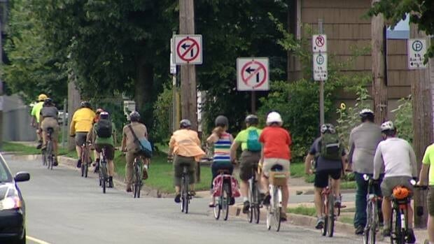 Cycle enthusiasts in Halifax took a guided of three potential bike corridors across the peninsula Tuesday night