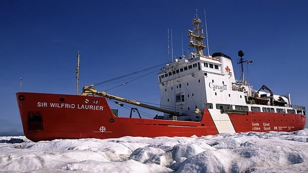 The icebreaker Sir Wilfrid Laurier is one of six Canadian Coast Guard vessels in the Arctic this summer.