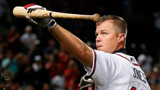 Braves third baseman Chipper Jones, 40, struggled down the stretch, hitting only .231 with one home run since Sept. 1, but he always has been able to find another level in big games.