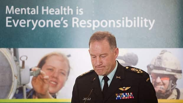 Gen.Walt Natynczyk, shown at a mental health awareness event in 2009, today was among military officials who said the services for Canadian Forces have been improved but still need work.