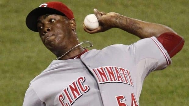 A lawsuit filed by Cuban-American Danilo Curbelo Garcia claims that Reds relief pitcher Aroldis Chapman falsely accused him of involvement in human trafficking.