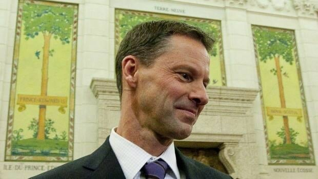 Nigel Wright, chief of staff to Prime Minister Stephen Harper, was lobbied by Barrick Gold Corp., despite having personal ties to the company. Wright is seen here during committee testimony on Parliament Hill in 2010.
