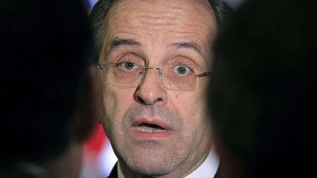Greece's Prime Minister Antonis Samaras has said his country will run out of money by Friday.