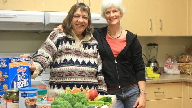 Wilma Stolk (left), a tenant at the Homestead Christian Care in Hamilton, and staff member Tineke VanderHoeven were shopping for the group home's groceries when an unidentified Good Samaritan covered their bill.