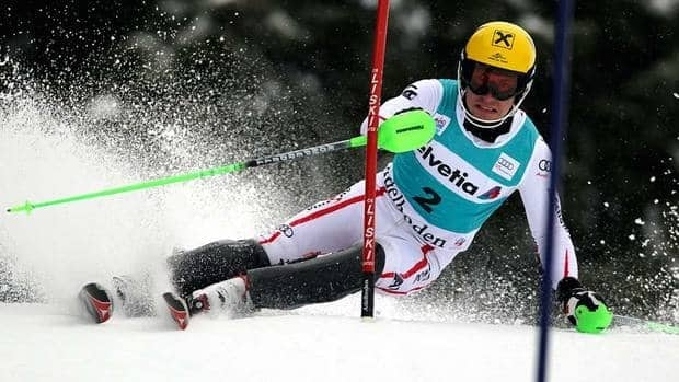 Marcel Hirscher got his third victory in four days after winning Thursday's night slalom in Zagreb, Croatia, and the classic Adelboden giant slalom on Saturday.