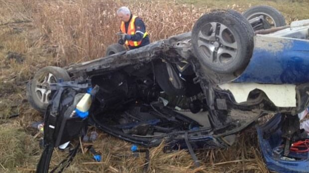 Police are on scene at a crash on Highway 11 and Wanuskewin Road.
