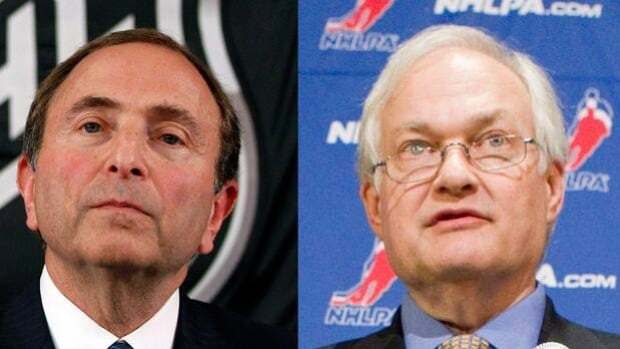 Although both NHL commissioner Gary Bettman, left, and NHLPA executive director Donald Fehr took firm stances this week, they did find common ground on at least one major issue for a new collective bargaining agreement.