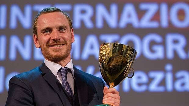 Michael Fassbender, seen with his best actor trophy at the closing ceremony of the 2011 Venice Film Festival, will help judge the Your Film Festival finalists.