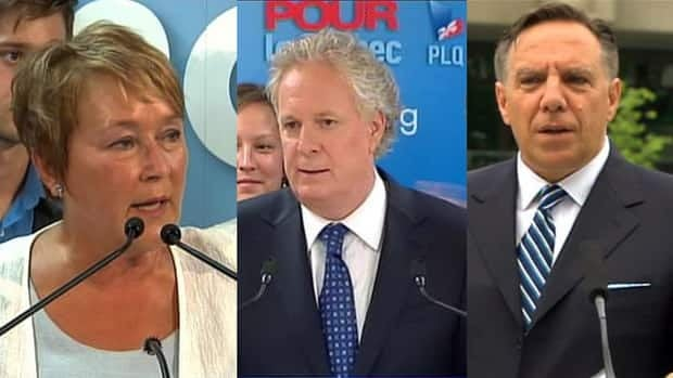Quebec's party leaders are holding press conferences to discuss their party's aims and goals for the upcoming election.