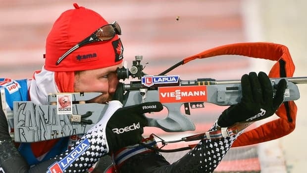 Jean-Philippe Le Guellec posted a perfect shooting record in Saturday's 10km sprint race of the Biathlon World Cup in Ostersund, Sweden. That sharpshooting helped the biathlete become Canada's first man to notch a World Cup win in the sport.
