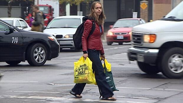 Toronto retailers will be barred from handing out plastic bags to their customers when a ban comes into effect in January.