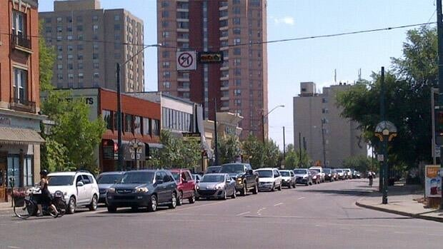 Traffic was backed up at 124th Street and 102nd Avenue in Edmonton after a power outage caused the traffic signals to go out.