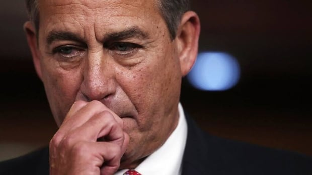 Speaker of the House John Boehner pauses during a press conference on Wednesday. On Thursday Boehner was forced to cancel a vote on his fiscal cliff Plan B because it lacked support from fellow Republicans.