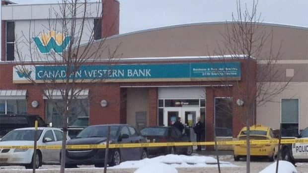 Police were called to the Canadian Western Bank at 21st Avenue and 99th Street around 2 p.m.