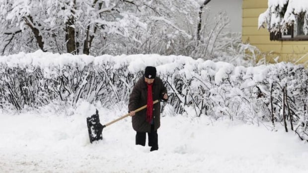 15 to 20 centimeters of snow are expected to accumulate in Waterloo Region and Wellington County by Monday afternoon.