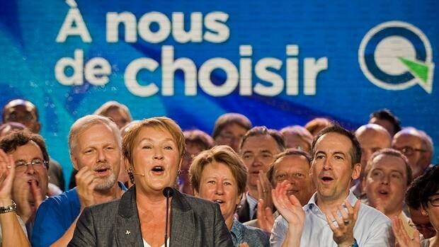 """""""À Nous De Choisir"""" has become as much Charest's slogan, as it is Marois'."""