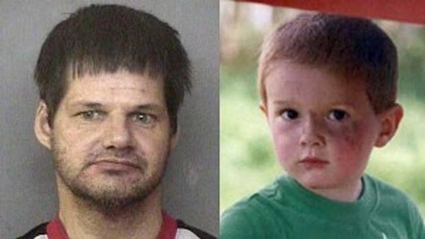Randall Hopley, left, abducted Kienan Hebert from his home in rural B.C. in September 2011.