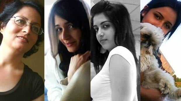 The bodies of Rona Amir, 58, and the three Shafia sisters: Zainab, 19, Sahar, 17, and Geeti, 13, were found in a submerged car near a Rideau Canall lock in Kingston, Ont., on June 30, 2009.