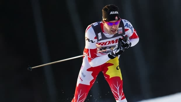 Canada's Alex Harvey, shown here competing on Friday, won a silver medal at the World Cup finals on Sunday.