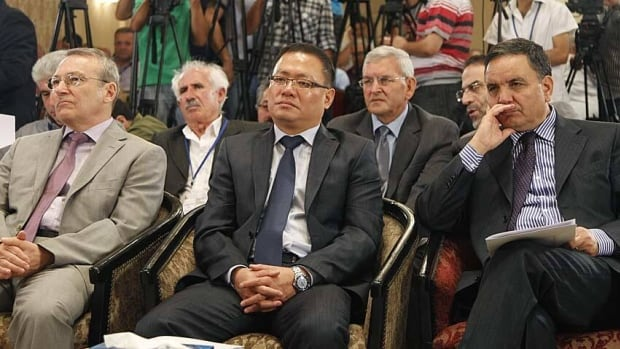 Ambassadors from Russia, Algeria and China attended the conference in Damascus on Sunday