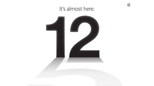 An image from the electronic invitation sent to media by Apple on Tuesday hinting that the Sept. 12 press event will include the launch of the iPhone 5.