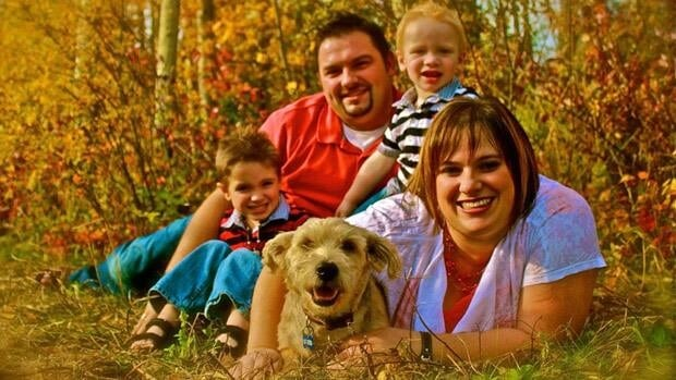 The Wheaton family, clockwise from left: Timothy, Shannon, Ben and Trena in 2011.