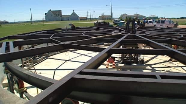 Canada's first and only rotating house is under construction on P.E.I.