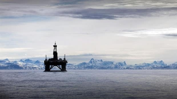 This image provided by Greenpeace Sunday May 29, 2011 shows the 53,000 tonne Leiv Eiriksson oil rig which is owned by Cairn Energy out of Scotland.